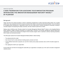 White Paper Screenshot: Introducing the Innovation Management Maturity Model™ by Planview